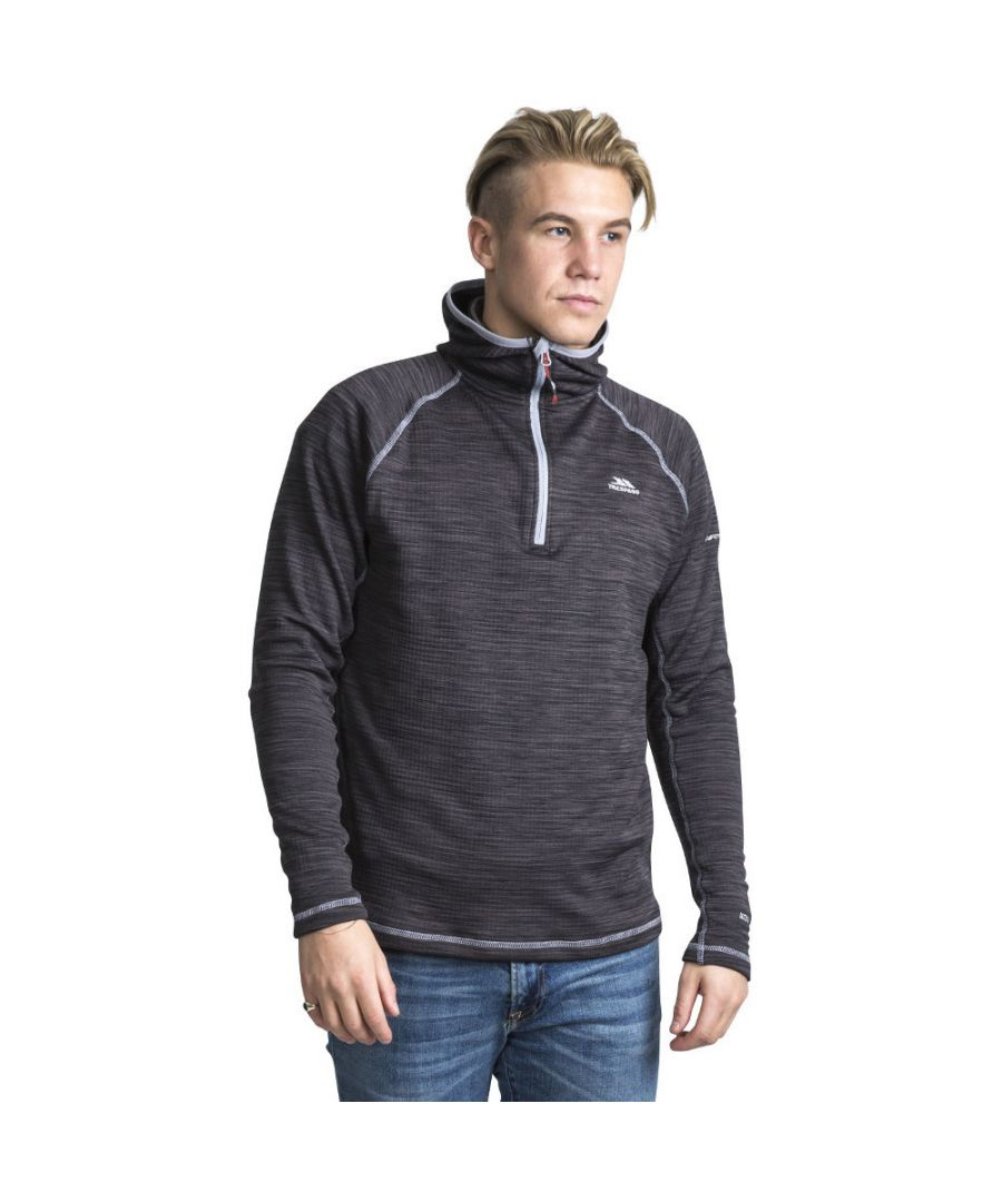 Image for Trespass Mens Shale Hooded Half Zip Outdoor Walking Fleece Jacket Top