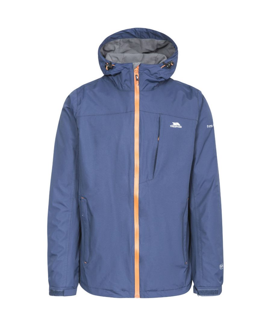 Image for Trespass Mens Hilmanii Hooded Waterproof Windproof Zip Jacket Coat