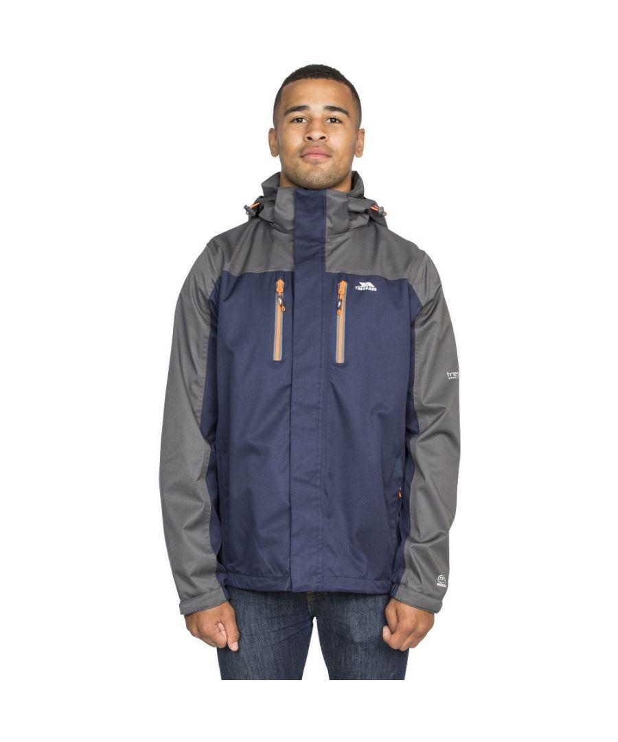 Image for Trespass Mens Wooster Detachable Hood Zip Waterproof Jacket Coat