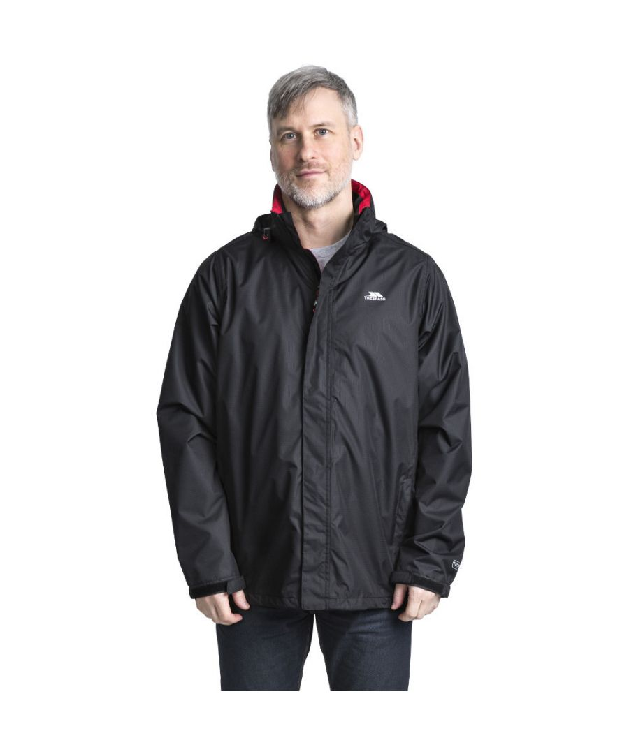 Image for Trespass Mens Fraserii Hooded Waterproof Wicking Zip Jacket Coat
