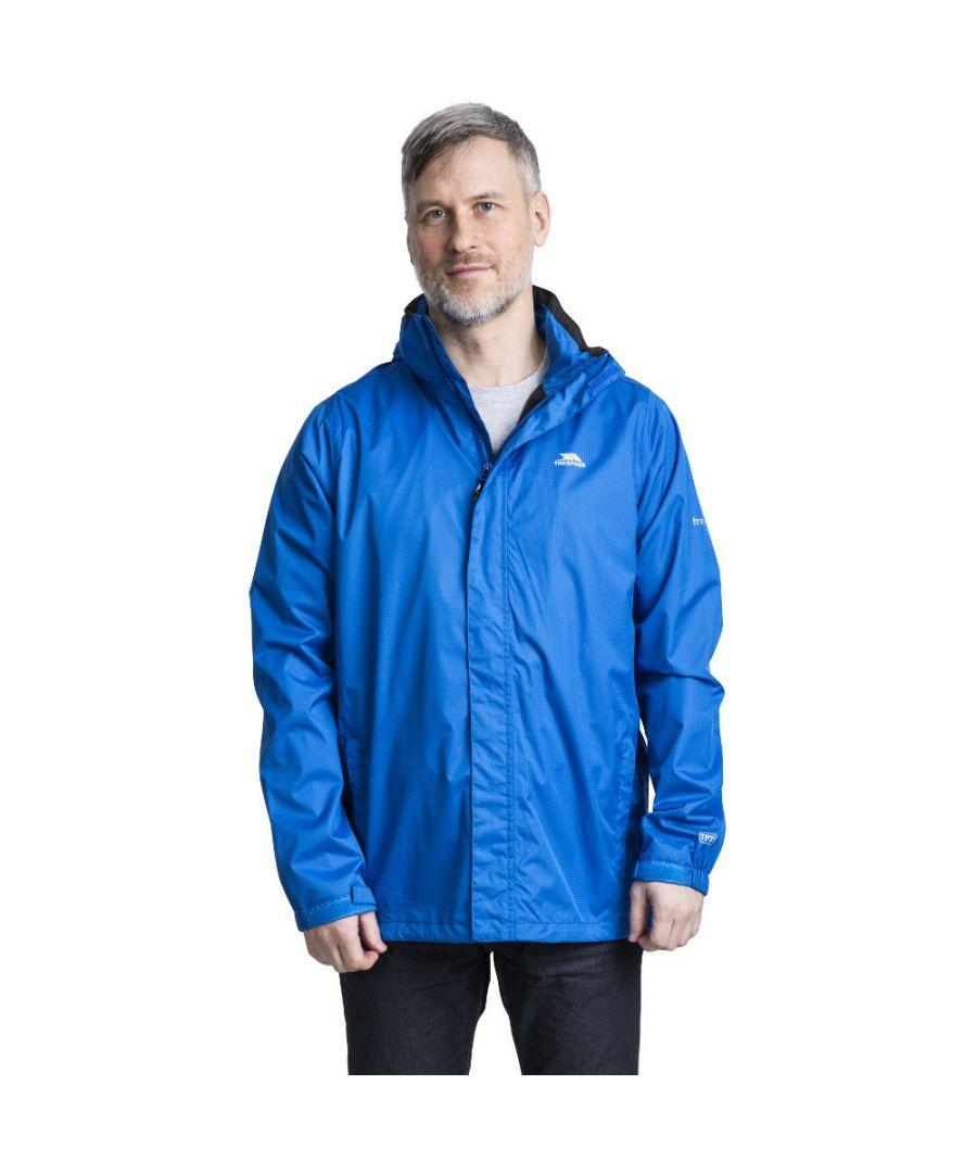 Image for Trespass Mens Fraserii Hooded Waterproof Wicking Zip Jacket Coat