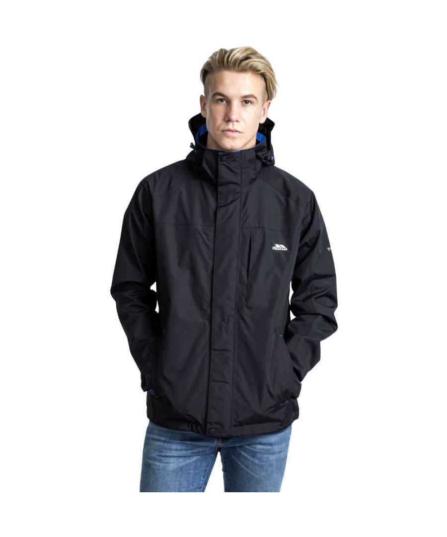Image for Trespass Mens Edwardsii Hooded Waterproof Breathable Jacket Coat