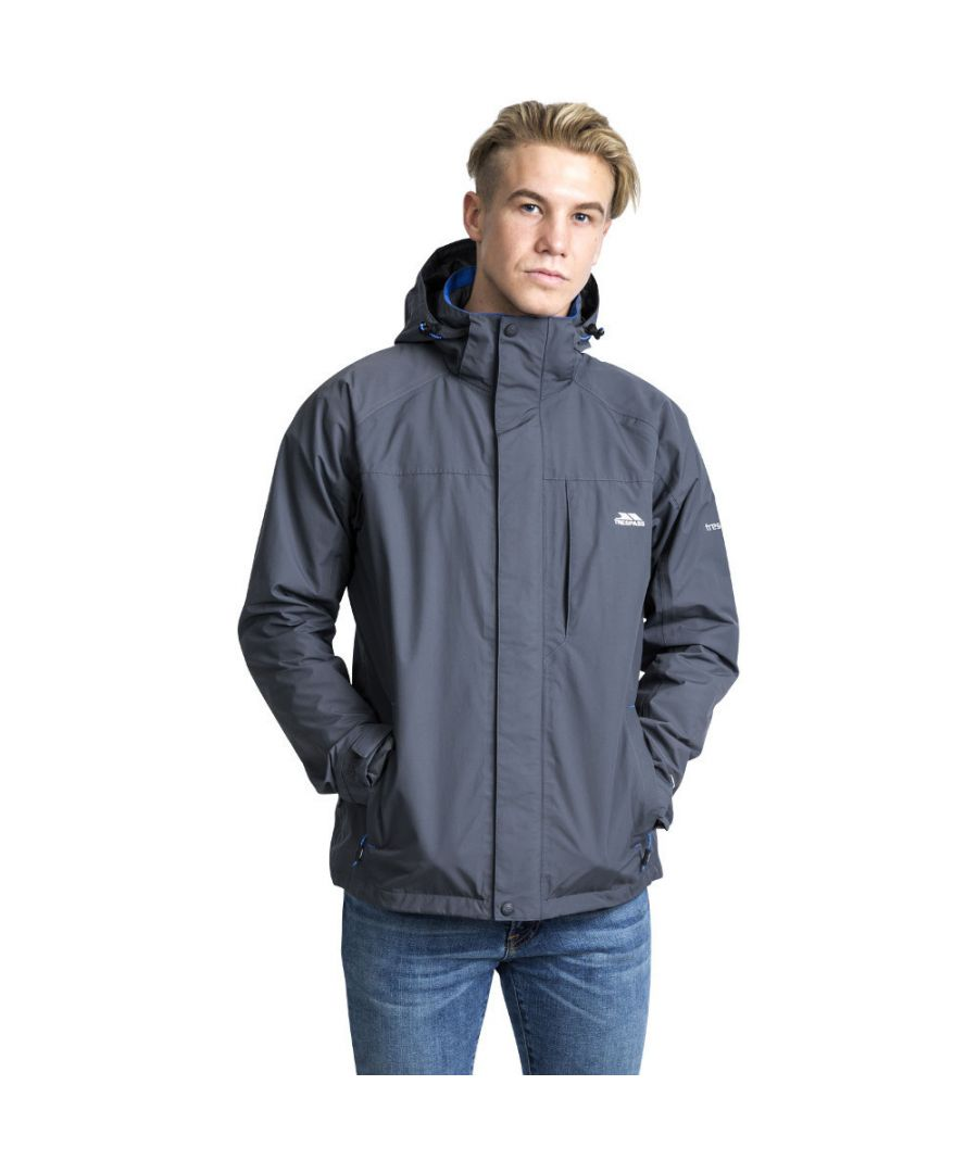 Image for Trespass Mens Edwardsii Hooded Waterproof Breathable Jacket Coat
