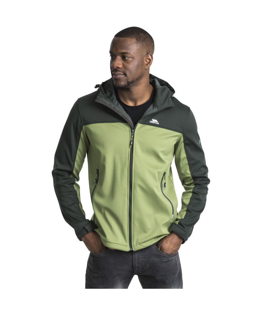 Image for Trespass Mens Palin Zip Wicking Waterproof Windproof Softshell Jacket