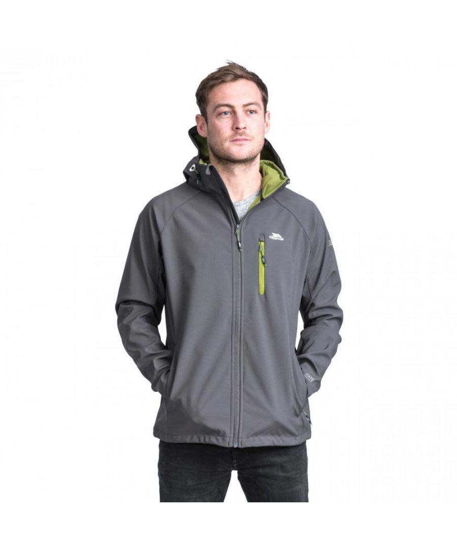 Image for Trespass Mens Nider Hooded Waterproof Zip Softshell Jacket Coat