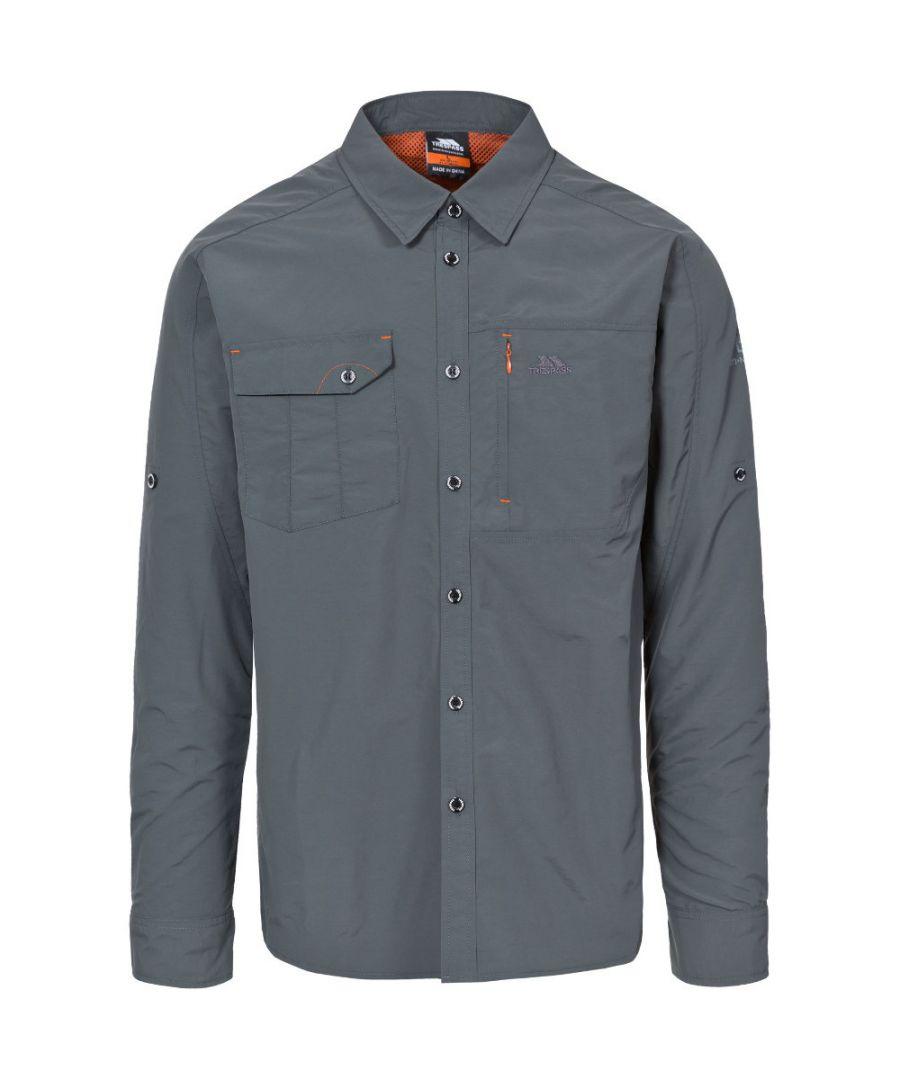 Image for Trespass Mens Darnet Long Sleeve UV Protected Outdoor Walking Shirts