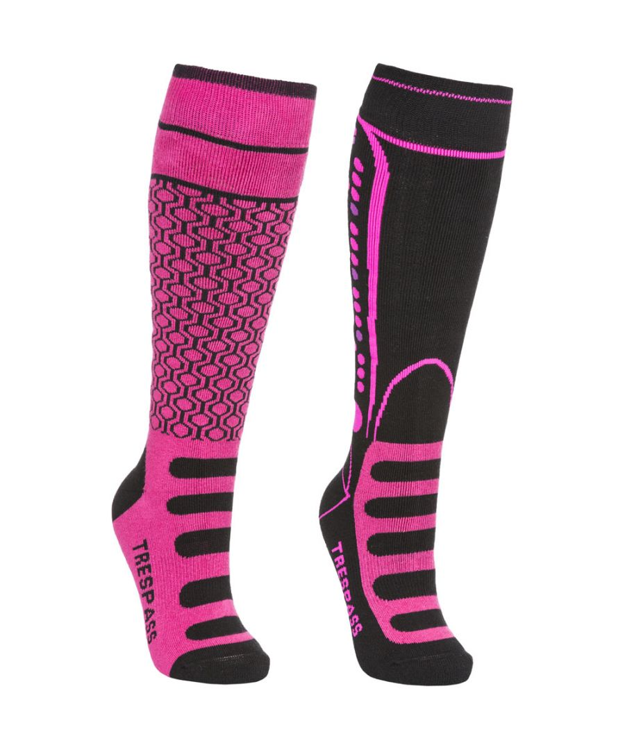 Image for Trespass Girls & Boys Concave Supportive Snowsport 2 Pack Skiing Socks