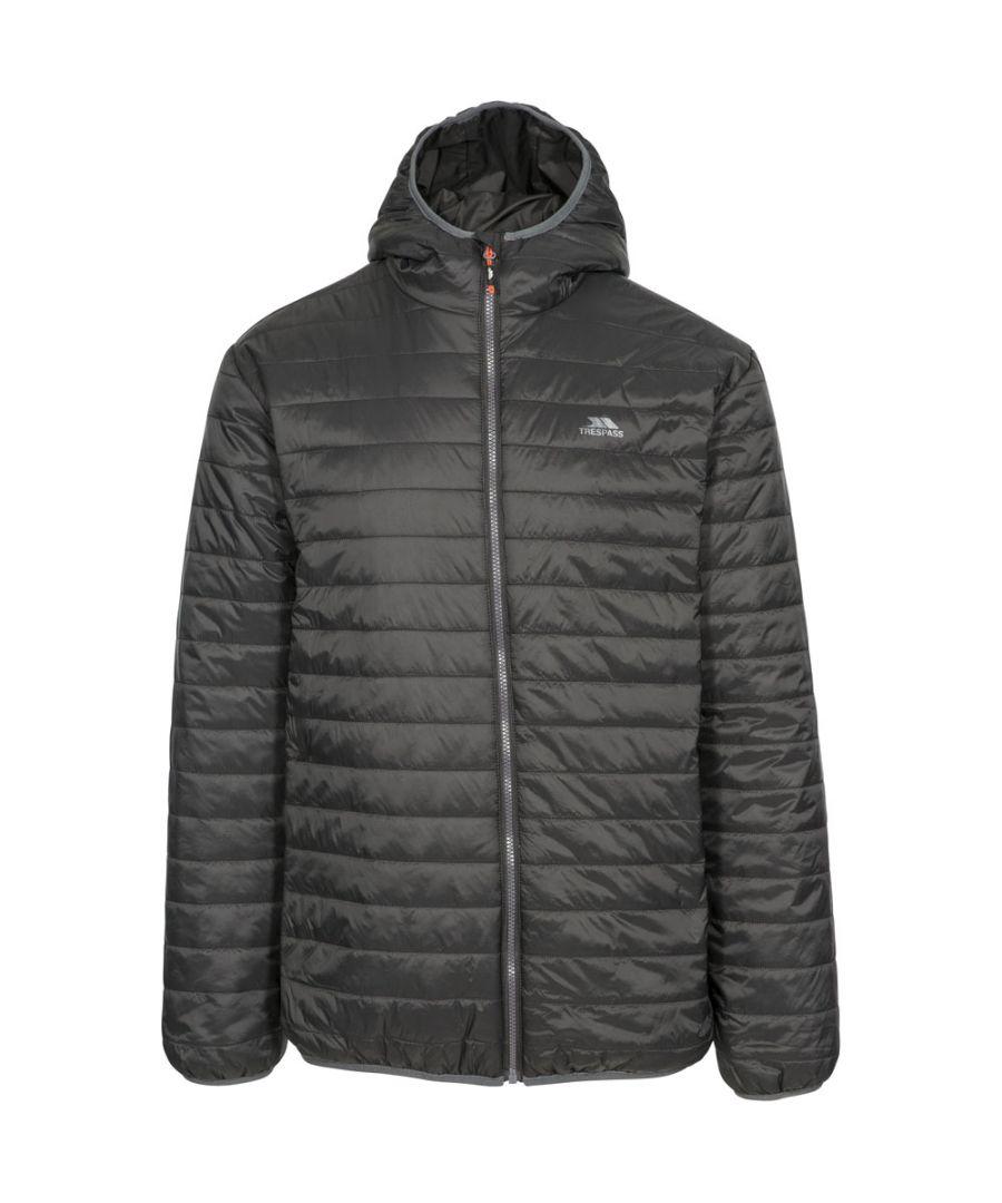 Image for Trespass Mens Dunbar Ultra Light Padded Insulated Hooded Jacket