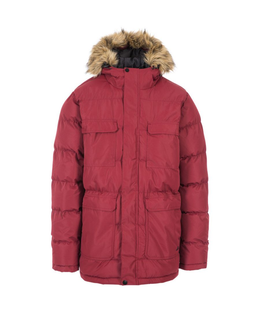 Image for Trespass Mens Baldwin Warm Padded Hooded Waterproof Insulated Jacket