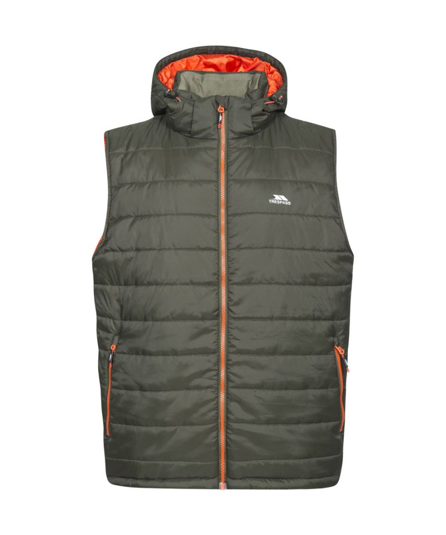 Image for Trespass Mens Franklyn Padded Warm Hooded Insulated Bodywarmer Gilet
