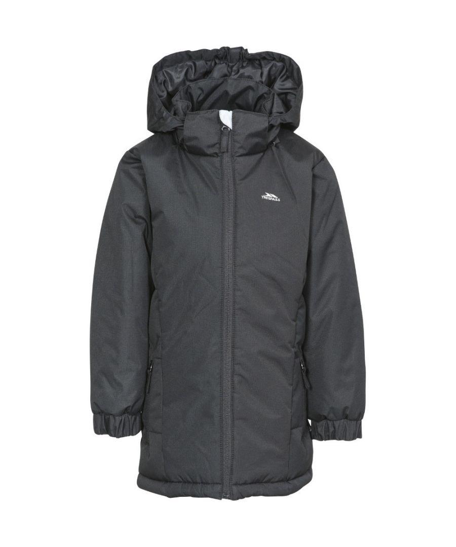 Image for Trespass Girls Primula Waterproof Hooded Padded Walking Jacket Coat
