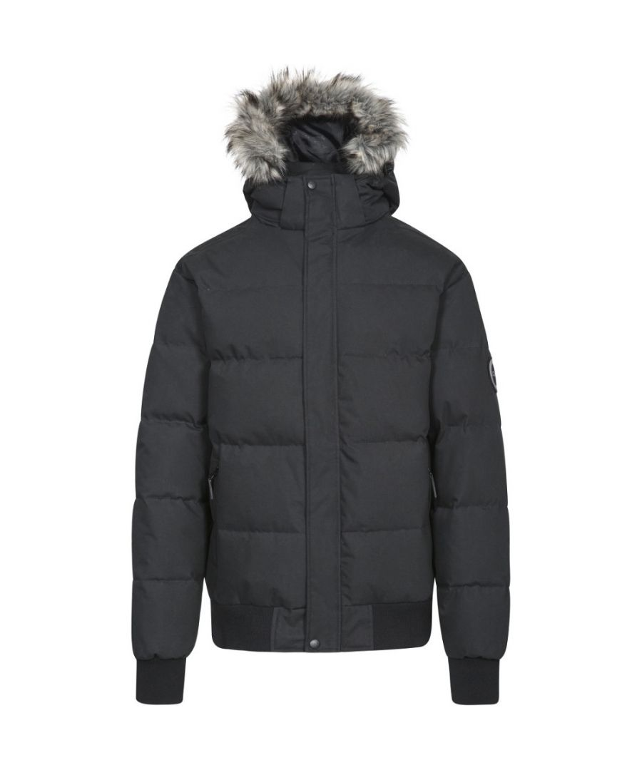Image for Trespass Mens Calgary Hooded Padded Synthetic Duck Down Jacket Coat