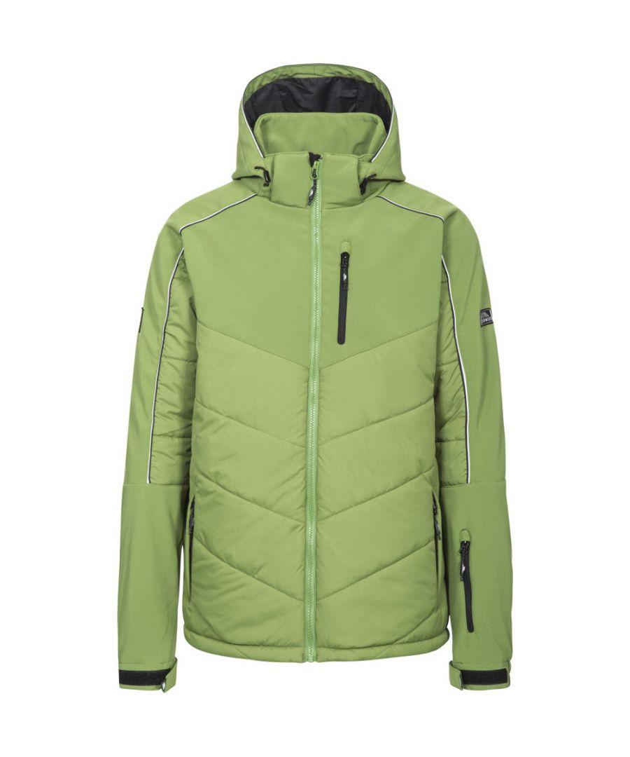 Image for Trespass Mens Taran Windproof Padded Stretch Hooded Skiing Jacket Coat