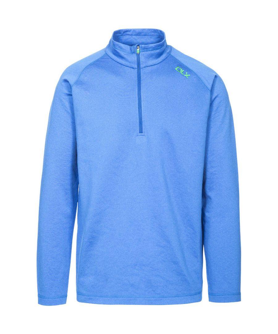 Image for Trespass Mens Jozef Half Zip Quick Drying Long Sleeve Running T Shirt