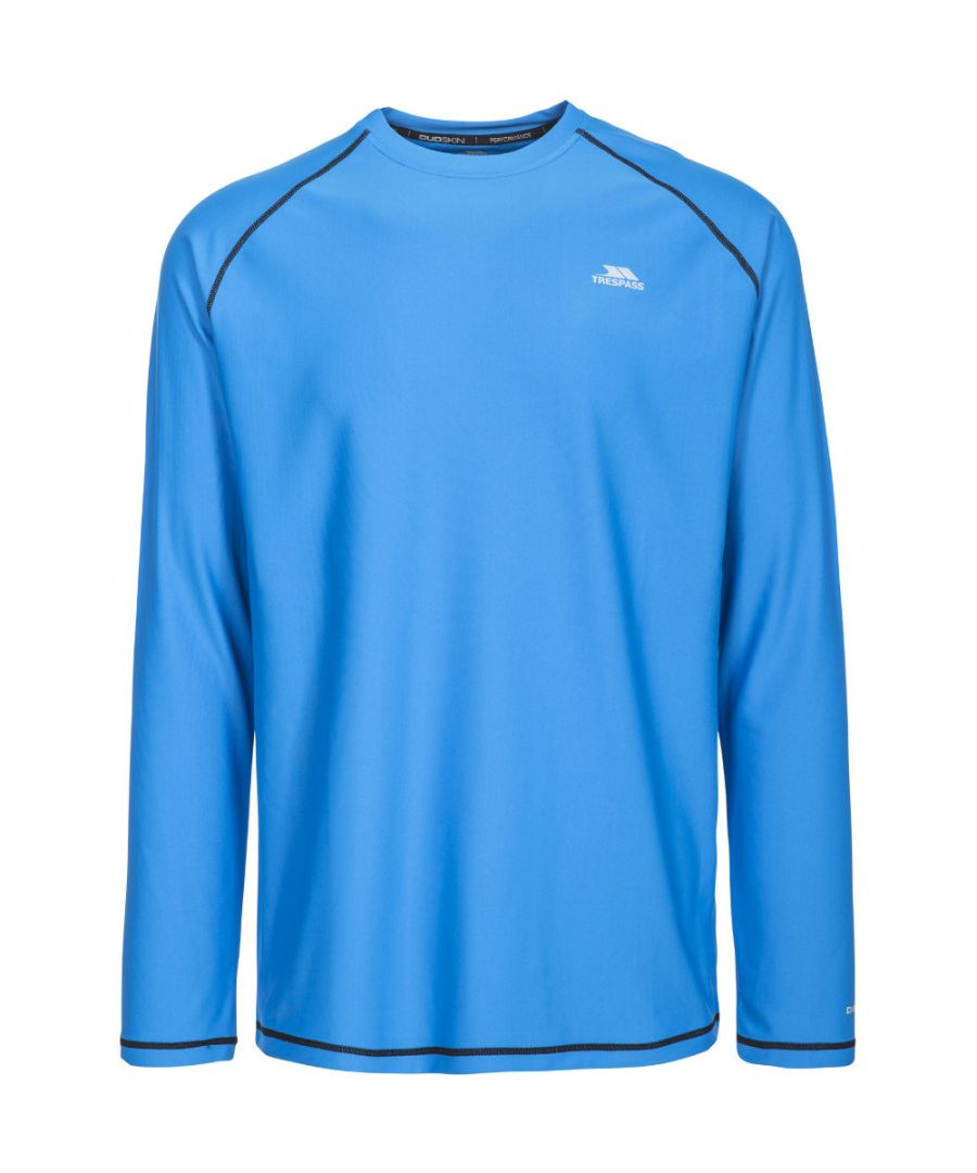 Image for Trespass Mens Burrows Half Zip Quick Drying Long Sleeve Running Top