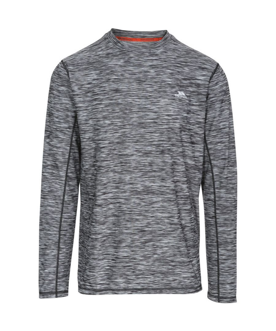 Image for Trespass Mens Wentworth Quick Drying Wicking Long Sleeve Running Top