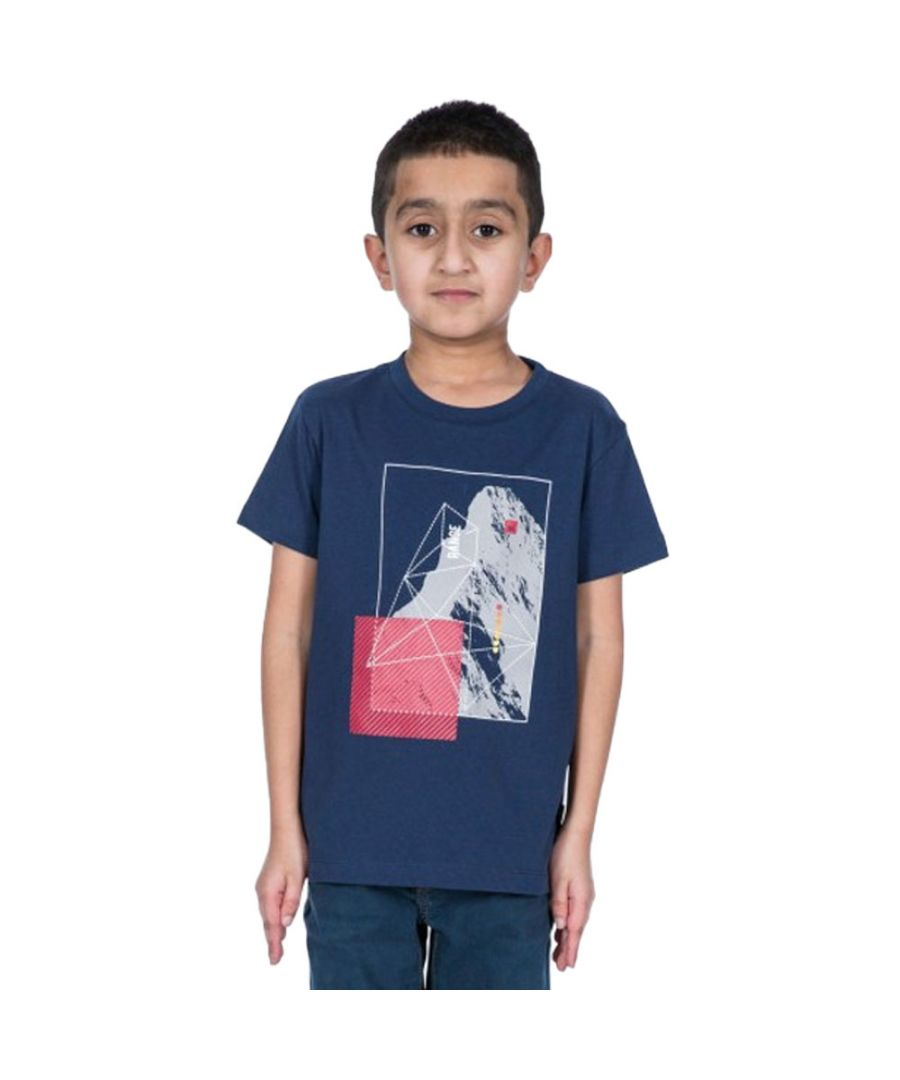 Image for Trespass Boys Lowie Short Sleeve Graphic Cotton T Shirt