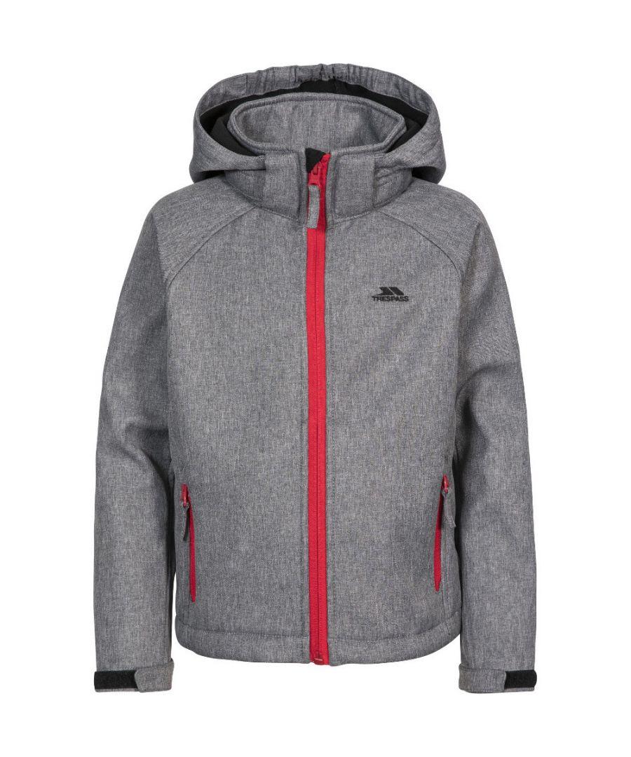 Image for Trespass Boys Tommaso Softshell Hooded Zip Up Jacket