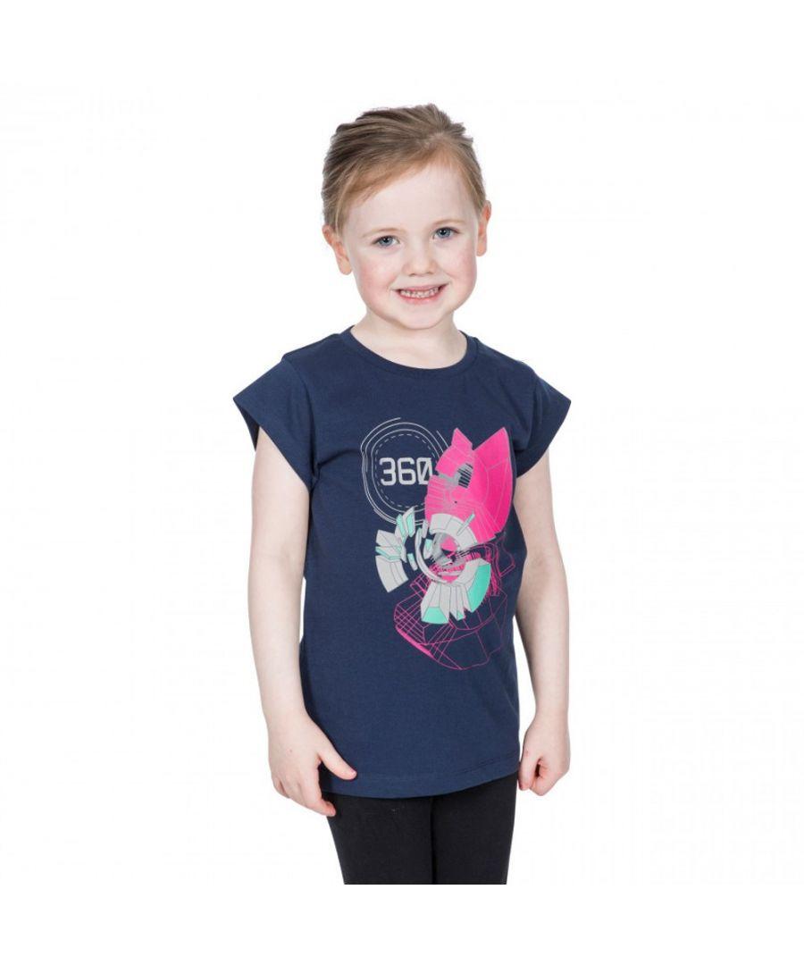 Image for Trespass Girls Leia Graphic Short Sleeve Cotton T Shirt