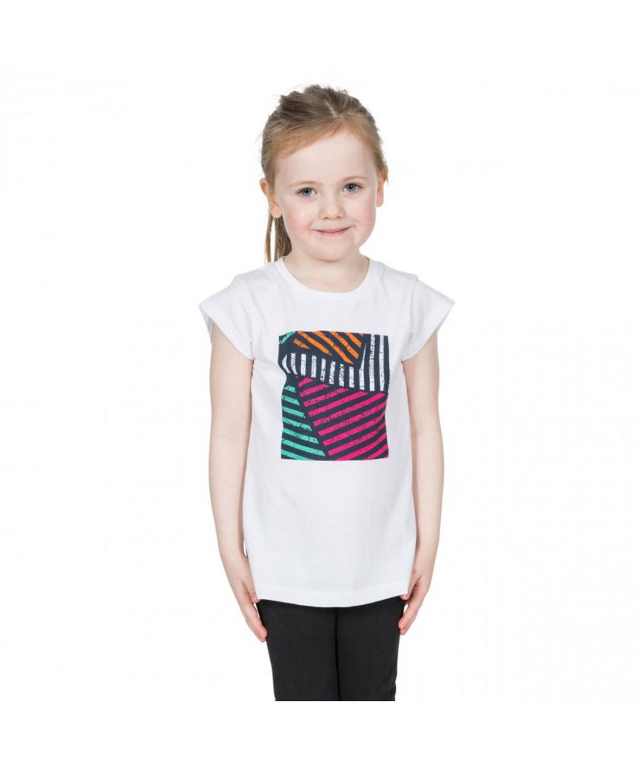 Image for Trespass Girls Linnea Graphic Short Sleeve Cotton T Shirt