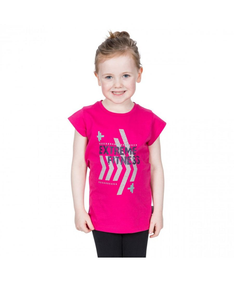 Image for Trespass Girls Naja Short Sleeve Graphic Cotton T Shirt