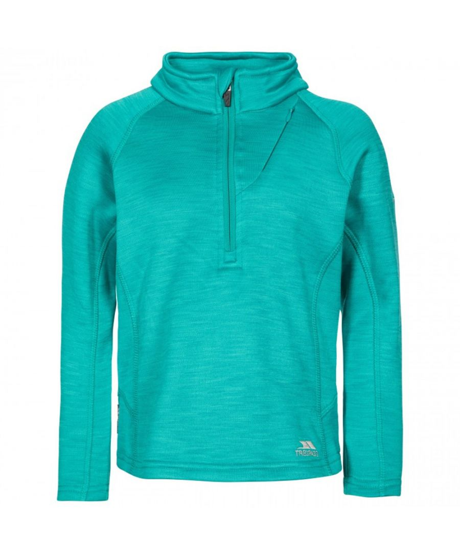Image for Trespass Girls Celina Supersoft Half Zip Fleece Jacket Top