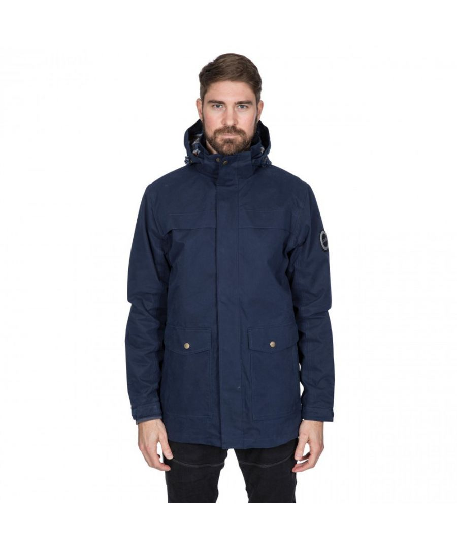 Image for Trespass Mens Rowland DLX Waterproof Lightweight Jacket