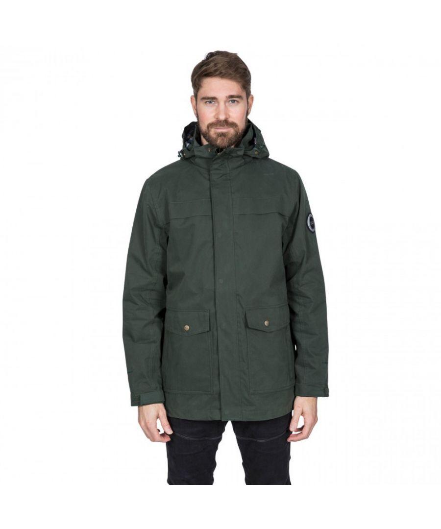 Image for Trespass Mens Rowland DLX Waterproof Lightweight Jacket