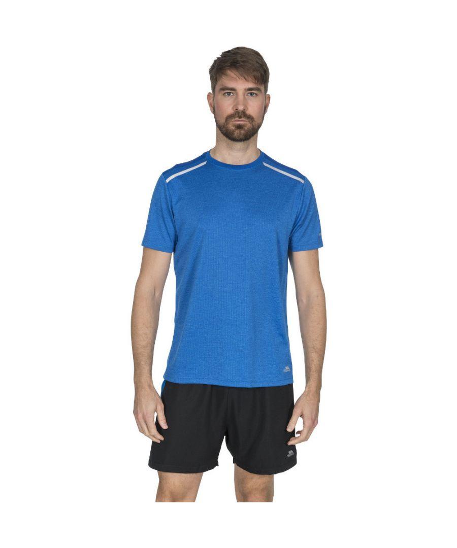 Image for Trespass Mens Astin Short Sleeve Fitness Running T Shirt
