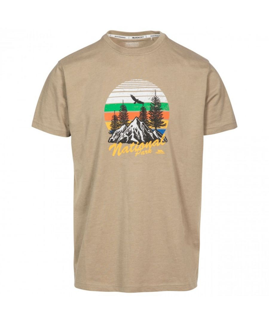 Image for Trespass Mens Estate Quick Dry Short Sleeve Graphic T Shirt