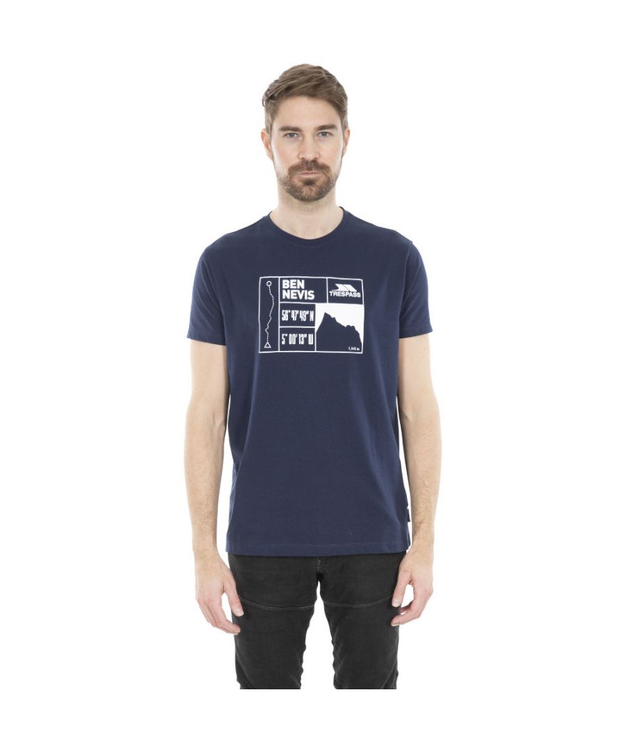 Image for Trespass Mens Nev Quick Dry Short Sleeve Graphic T Shirt