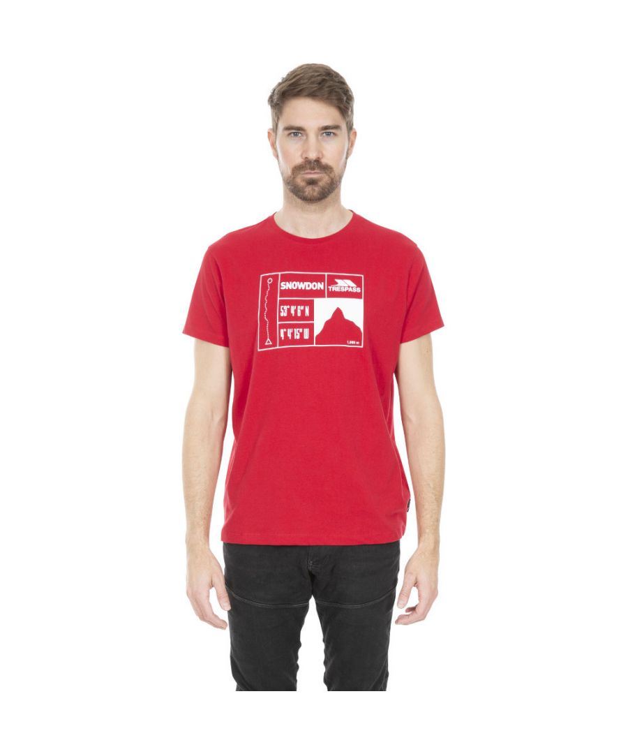 Image for Trespass Mens Snowdon Quick Dry Short Sleeve Graphic T Shirt
