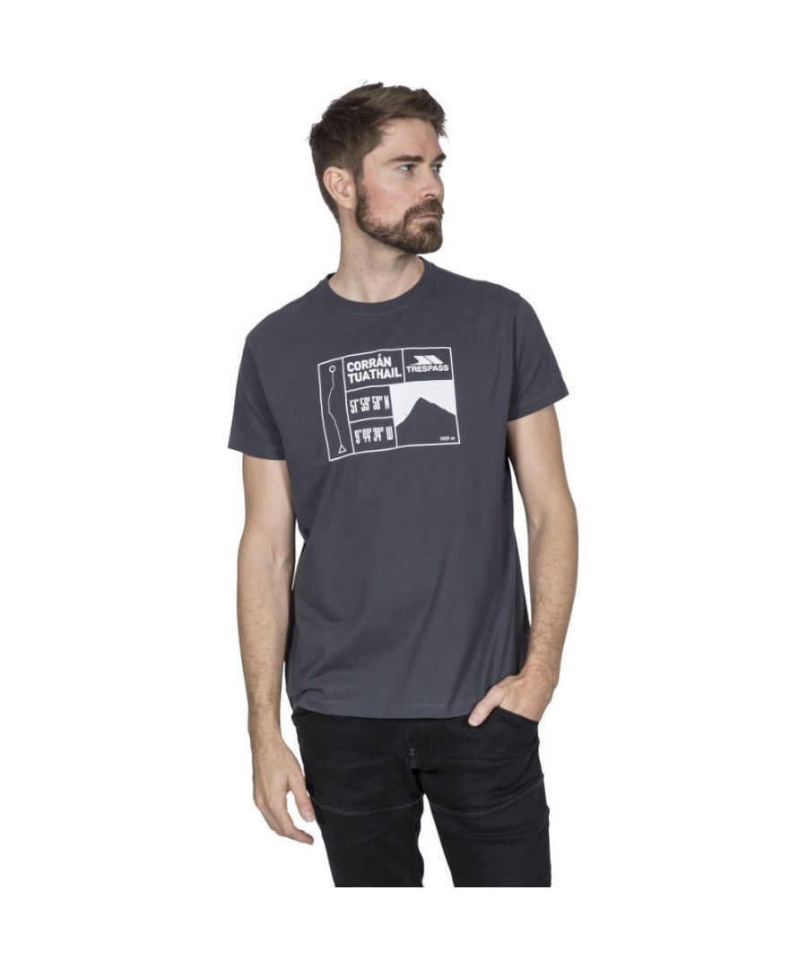 Image for Trespass Mens Tuathail Wicking Short Sleeve Graphic T Shirt