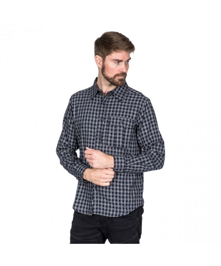 Image for Trespass Mens Participate Long Sleeve Checked Cotton Shirt