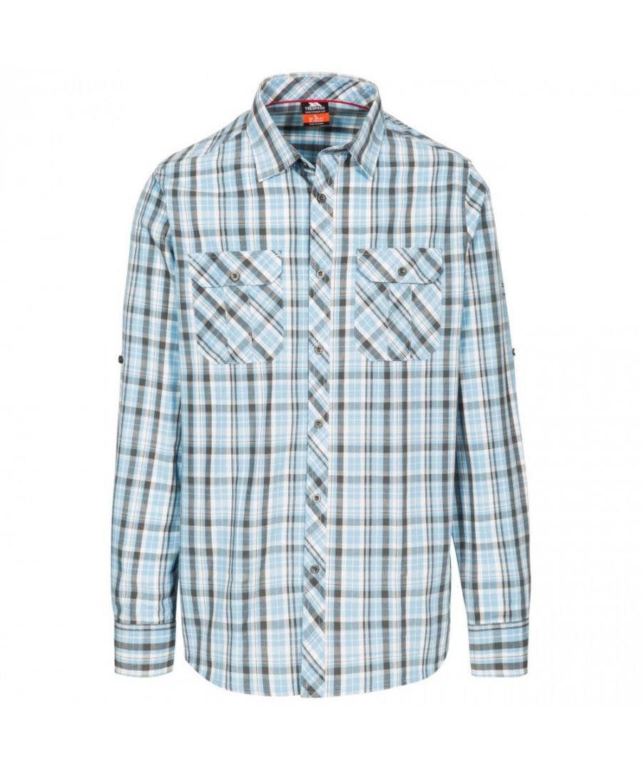Image for Trespass Mens Collector Long Sleeve Button Up Checked Shirt