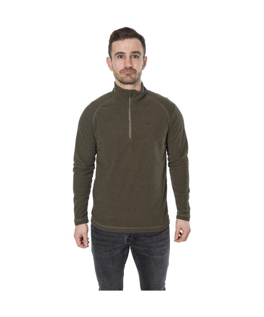 Image for Trespass Mens Keynote Lightweight Half Zip Fleece Top