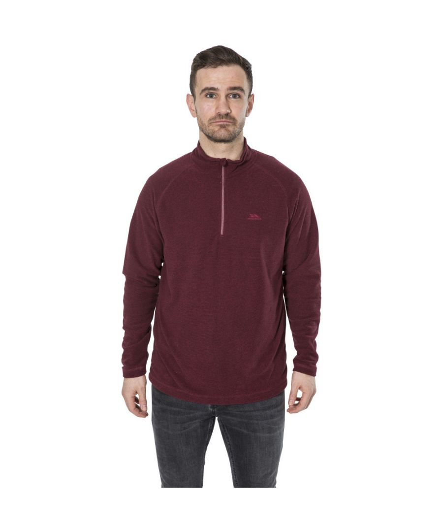 Image for Trespass Mens Keynote Lightweight Half Zip Fleece Top