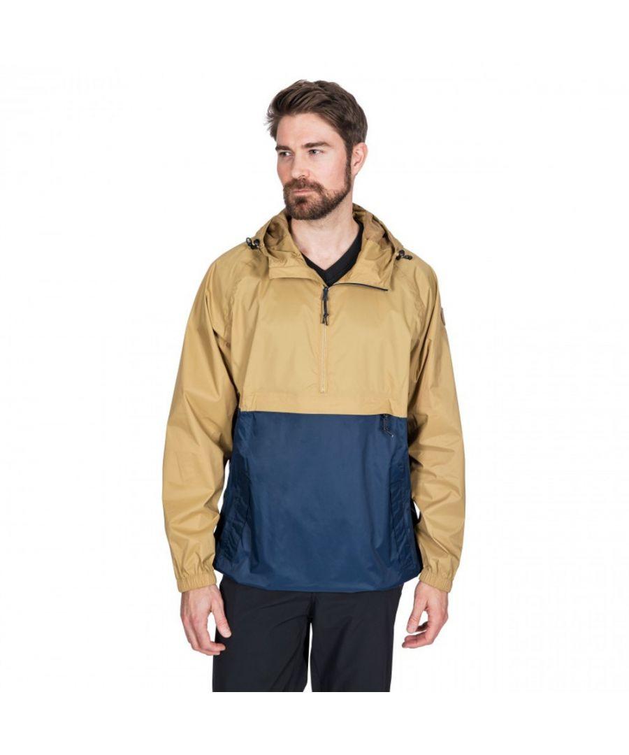 Image for Trespass Mens Gusty Packaway Waterproof Half Zip Jacket