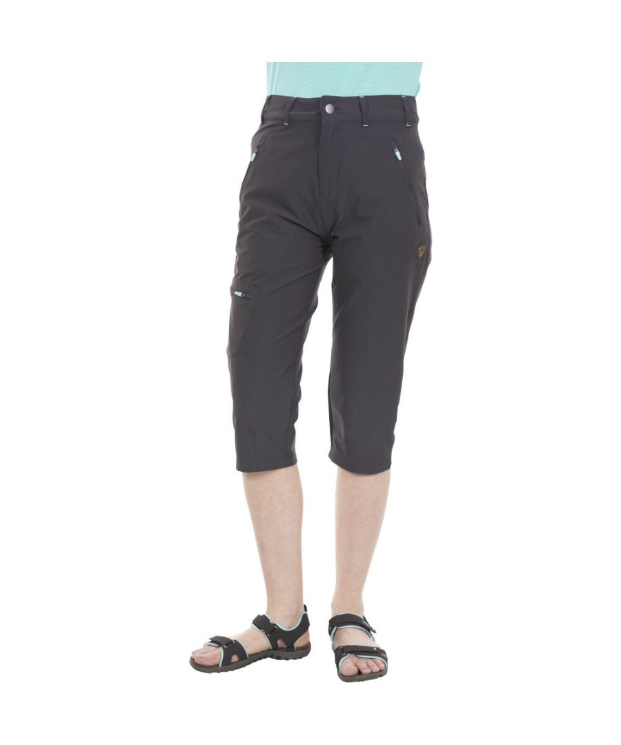 Image for Trespass Womens Recognise Stretch 3/4 Capri Walking Trousers