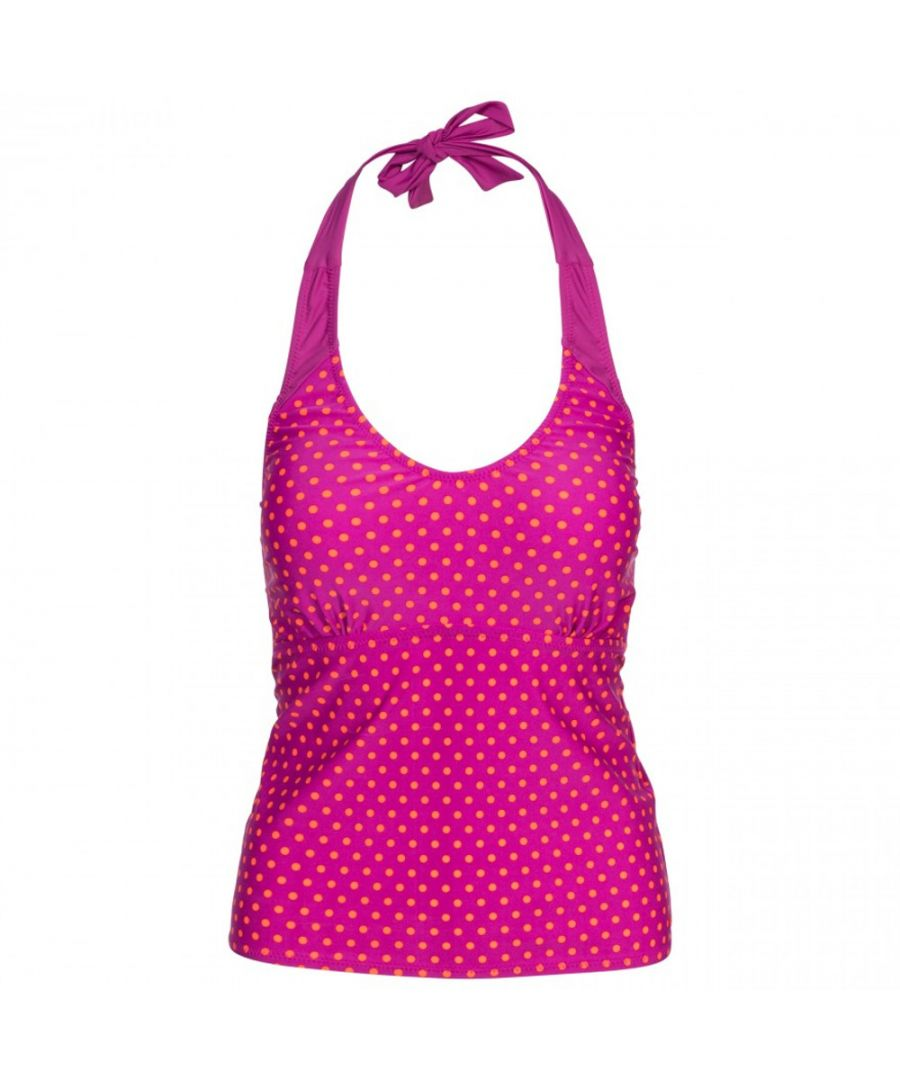 Image for Trespass Womens Winona Tie Neck Contrast Summer Tankini Top