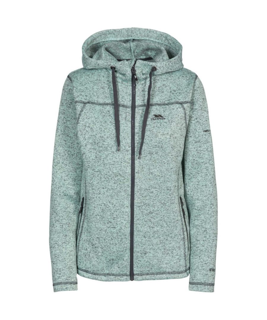 Image for Trespass Womens Odelia Airtrap Hooded Walking Marl Fleece