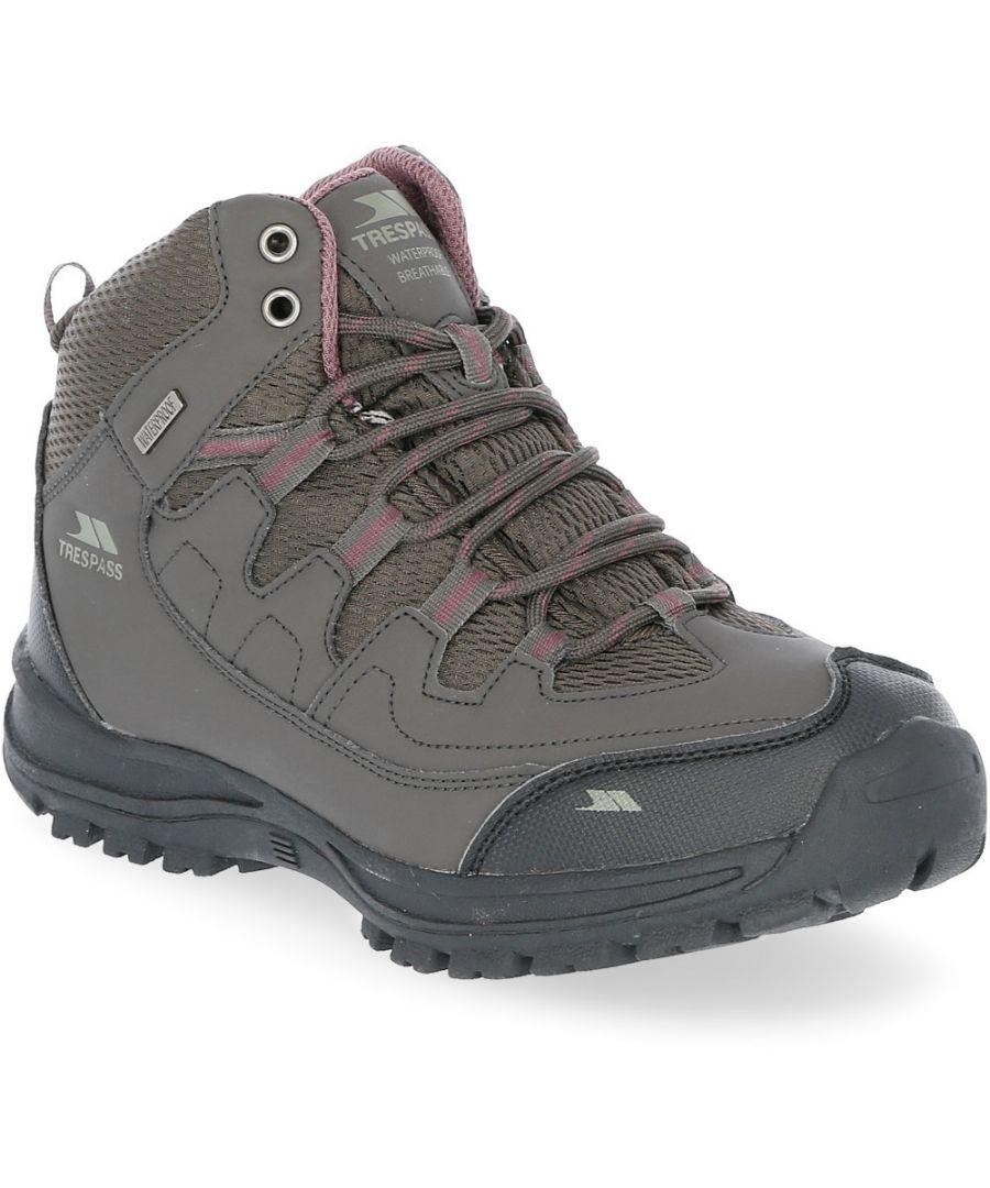 Image for Trespass Womens Mitzi Mid Height Waterproof Walking Boots