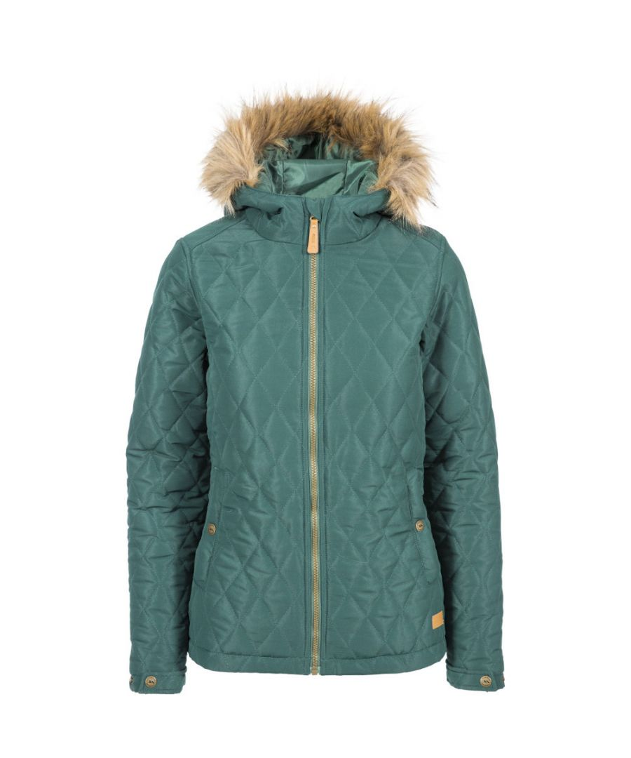 Image for Trespass Womens Genevieve Diamond Quilted Hooded Padded Coat