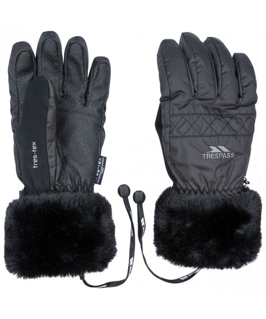 Image for Trespass Womens Yanki Lightly Padded Winter Warm Gloves