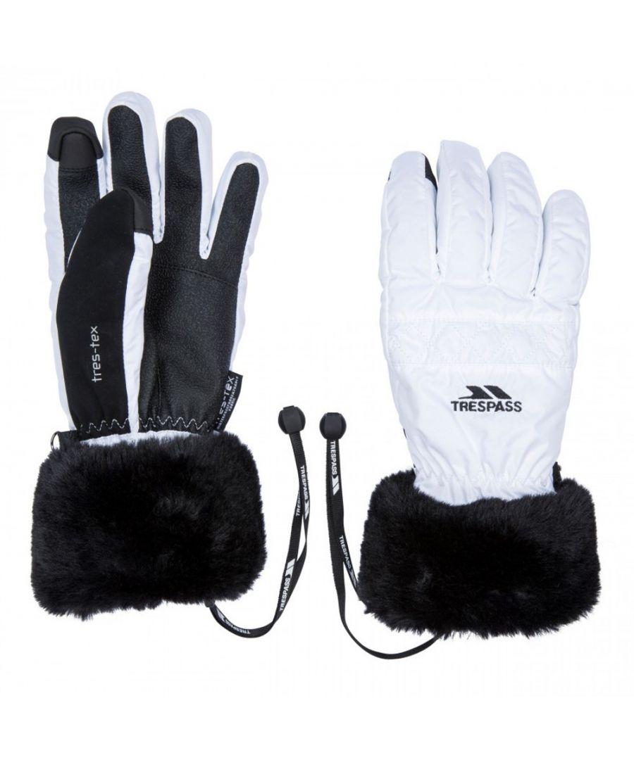 Image for Trespass Womens Yanki Lightly Padded Winter Warm Gloves