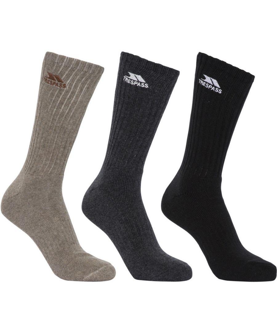 Image for Trespass Mens Torren Mid Length 3 Pack Cushioned Socks