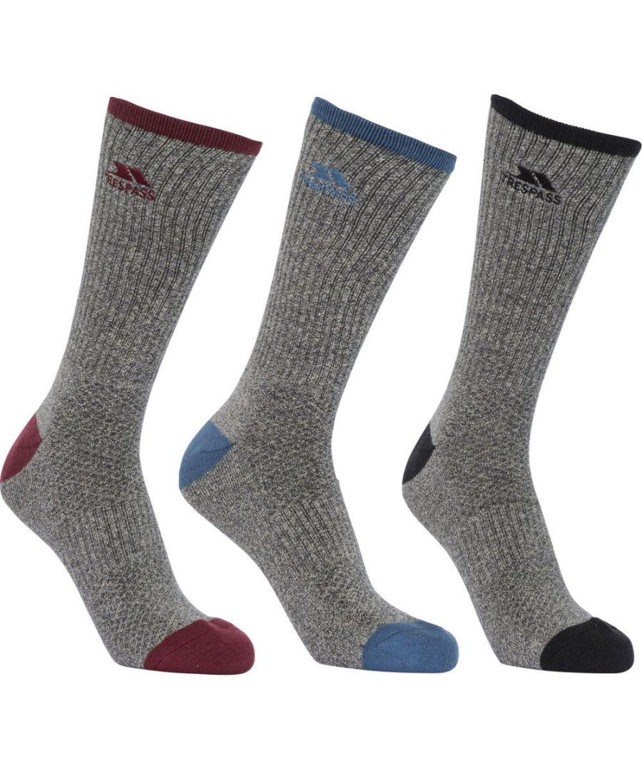 Image for Trespass Mens Radulf Mid Length 3 Pack Technical Port Socks