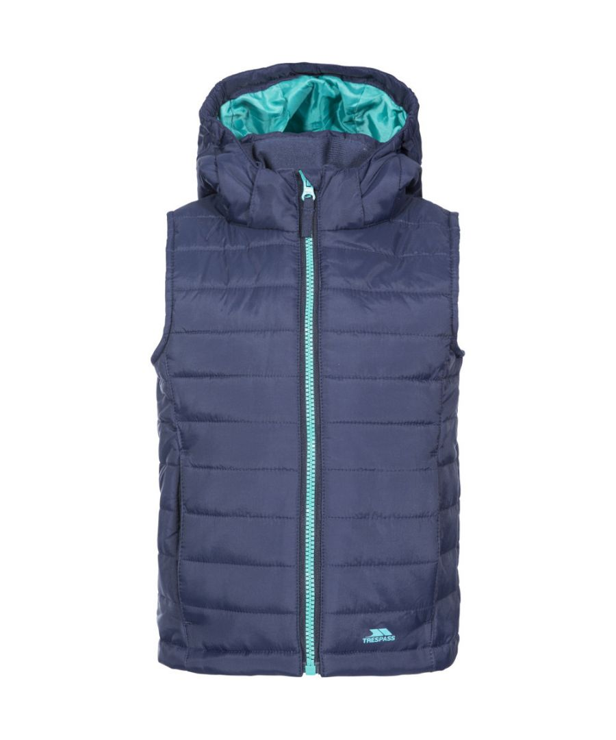 Image for Trespass Girls Aretha Insulated Lightly Padded Hooded Gilet