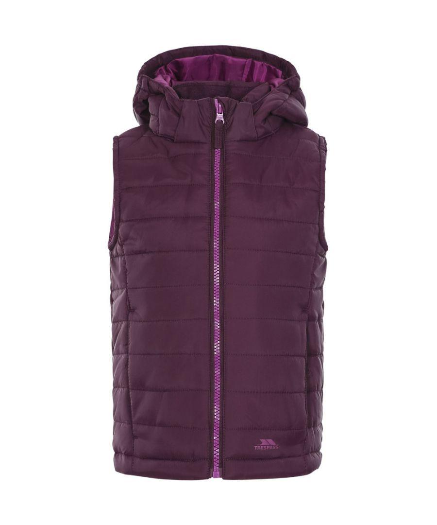 Image for Trespass Girls Aretha Insulated Lightly Padded Hooded Gilet