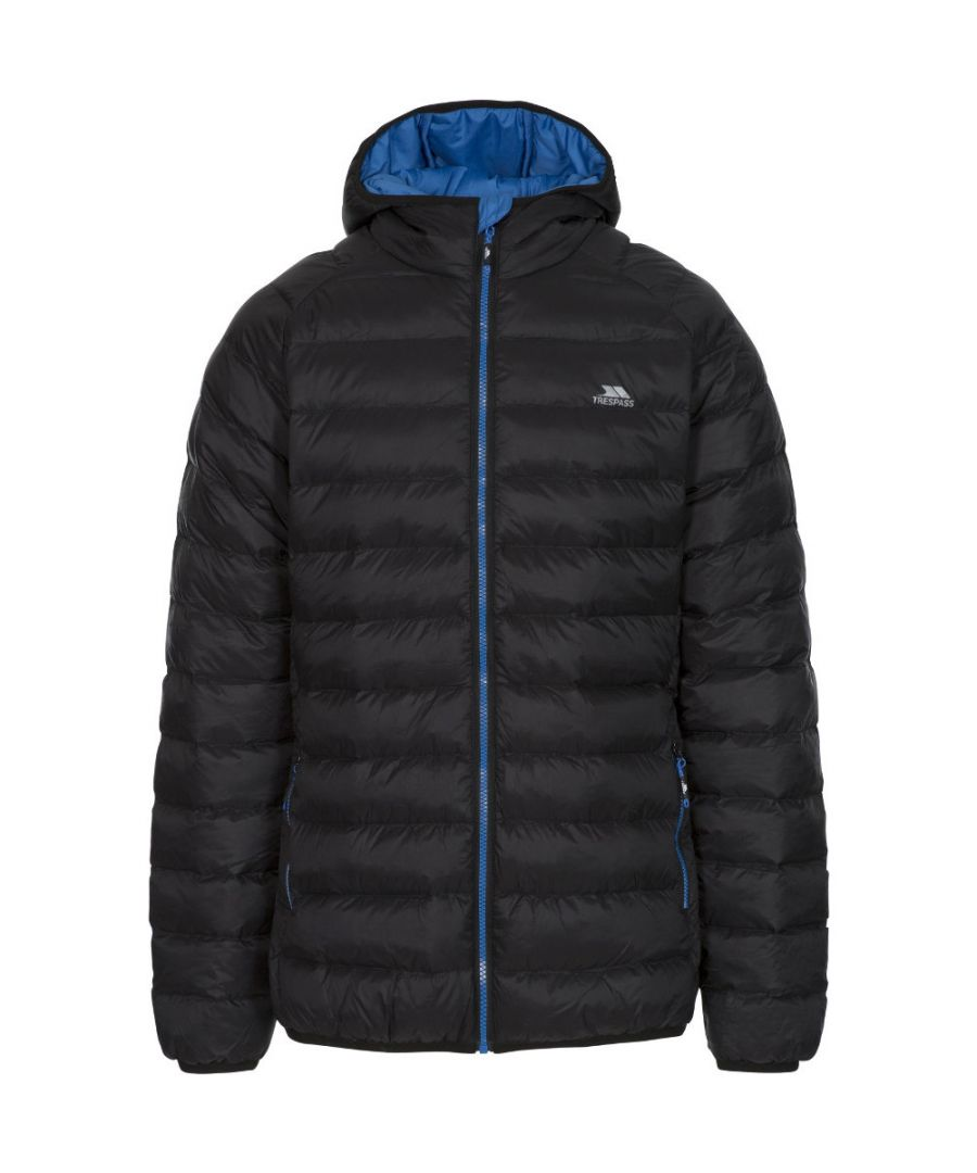 Image for Trespass Mens Bosten Contrast Padded Hooded Insulated Jacket